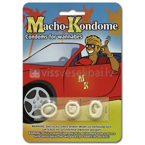 Macho-Kondome miniatūri joku prezervatīvi