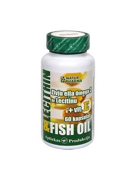 Zivju eļļa Omega 3 ar lecitīnu